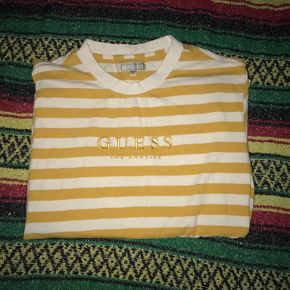 393d252c94 Guess Shirts | Los Angeles Striped Tee | Poshmark